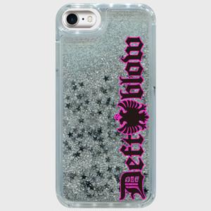 iphone caseシルバースター トリストラップロゴ縦ピンク iPhone6/6s/7/8対応