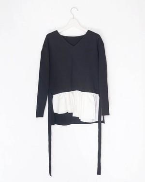 裾フリルニット(col.BLK)[商品番号:7702-0105]