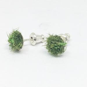 苔萌ゆるピアス 大 /silver