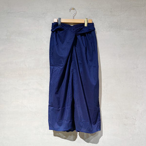 【COSMIC WONDER】Beautiful organic cotton  wrapped skirt/Ryukyu indigo/ 11CW16046-4