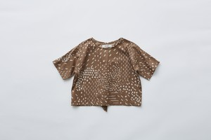【21SS】eLfinFolk(エルフィンフォルク)QiLin Tshirts (80/90/100110/120)brown Tシャツ