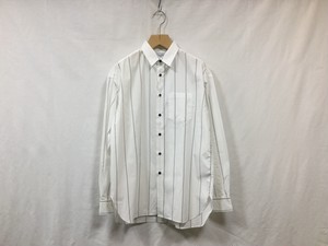 "UNIVERSAL PRODUCTS.""BIG STRIPE REGULAR COLLAR SHIRT WHITE"""