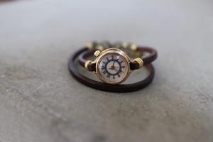 小さいアクセサリーのような時計 二重巻き(no56)