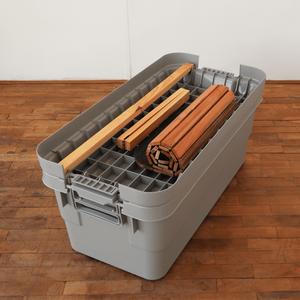 プラスチック収納BOX専用ウッドテーブル(70L)