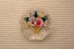 ブローチreverse intaglio bouquet