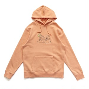 CHRYSTIE NYC / WOMEN ON THE CHAIR HOODIES -WASHED ORANGE-