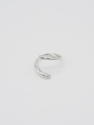 raw snake ring silver