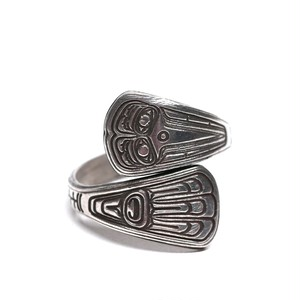 Vintage Northwest Coast Haida Sterling Silver Raven Ring