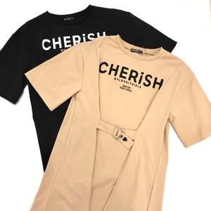 by♡LOVEiT バイラビット   ベルテッドロゴTシャツ 7811207-33