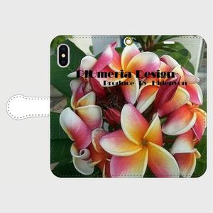 ひでぴょん手帳型スマホケース インスタ映えするプルメリアデザイン PlUmeriaDesign