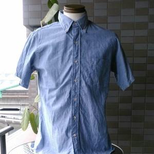 CLEVE クリーブ シャンブレー 半袖 シャツ M アメリカ製 90'