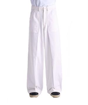 LEMAIRE WIDE LEG PANTS White M 201 PA148 LD044