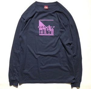 MANWHO / DAY&NIGHT L/S TEE NAVY