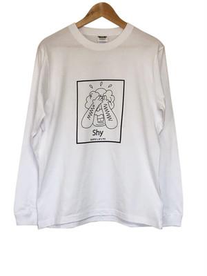 はずかしがりやロングスリーブTシャツ