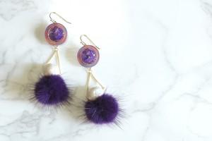 pierce/earring 夢に揺るファー(violet)