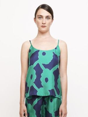 【BANANATIME】CAMISOLE:BLEEDING FLOWERS GREENBLUE