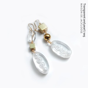 Transparent and pearl / 005【イヤリング/ピアス】