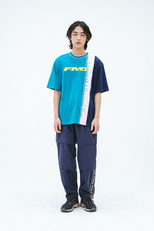 【7月頭入荷】FMK x KOMPACKT] MULTI MIXED CUT T-SHIRT 2 - EMERALD GREEN