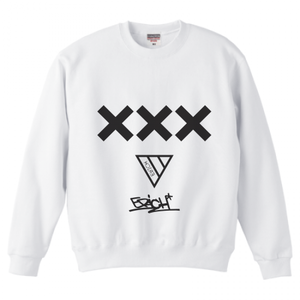 ERICH / XXX CREWNECK SWEAT WHITE