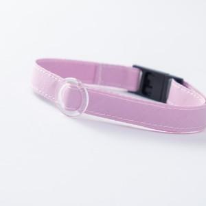 【猫にやさしい布首輪】オーキッド 軽量3g やわらか 安全 シンプル ペットシッター考案