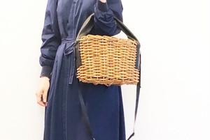 [受注オーダー受付中]紅籐とレザーの2wayかごバッグ
