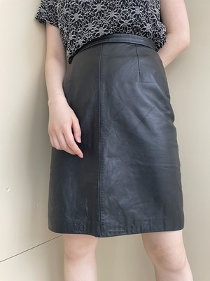 leather skirt / 7SSSK13-04
