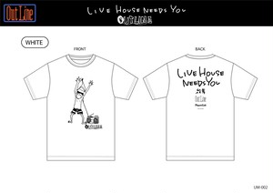 LIVE HOUSE NEEDS YOU Tシャツ/花男(アウトラインPASSイラスト)(UM-003)