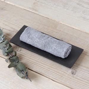 香川漆器 讃岐石地塗おしぼり置き 中田漆木