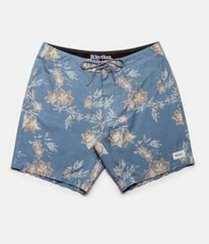 RHYTHM リズム メンズ水着 VINTAGE ALOHA TRUNK PEACE BLUE