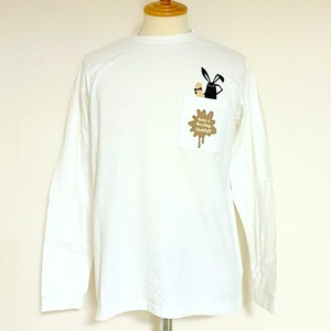 Shabby 「HAVE A NICE DAY」 L/S T-shirts Off White