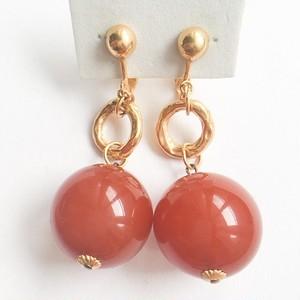 red beads dangle earring[e-861]