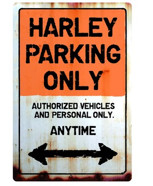 HARLEY Parking Onlyサインボード