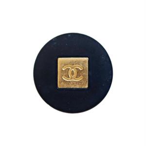 【VINTAGE CHANEL BUTTON】スクエアココマーク アンティークゴールド ブラック 15mm C-19158