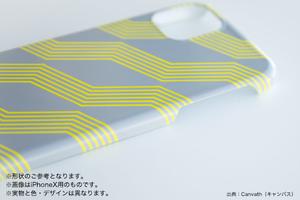 iPhone/Android スマホケース★墨絵ハシビロコウ【ブラック】