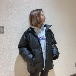 【即納】韓国ファッション フェイクレザーダウン