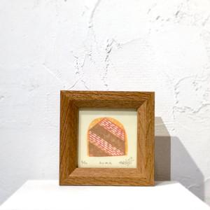 竹崎勝代「home」TAKEZAKI Katsuyo/woodcut print 'home'