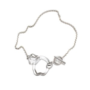 Glass & Silver Mothligth Choker