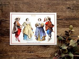 フランスのポストカード F17 1625年
