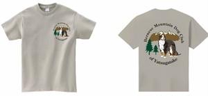 BMDCY:山梨八ヶ岳バーニーズマウンテンドッグクラブロゴTシャツ/シルバーグレー