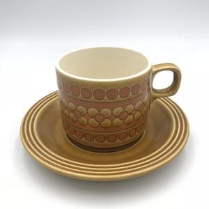 ホーンジー (Hornsea) saffron カップ&ソーサー イギリス ヴィンテージ