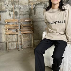 ESSENTIALS【エッセンシャルズ】NEW FRONT LOGO LS(TAN).