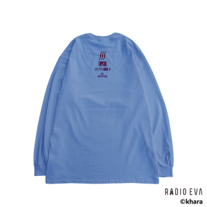 Ayanami (Why don't you just try smiling?) L/S Tee (LIGHT BLUE)   /  RADIO EVA