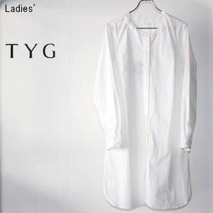 TYG ノーカラーワンピース (WHITE) L15-003 【Ladies'】