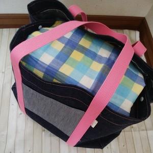 Sサイズ 岡山デニムのキャリーケースバッグ