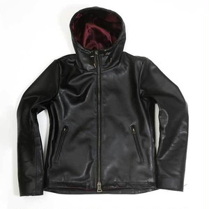 "【Yami】 ""Waterproof"" leather hooded jacket  (防水レザーフードジャケット)"