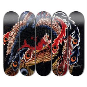 Hikari Skateboard Hokusai - Happonirami Phoenix 5 boards set