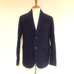 Italy Beste Moleskin Tailored Jacket Navy