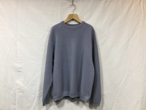 "crepuscule ""  Moss stitch L/S sweat  "" L.Blue"