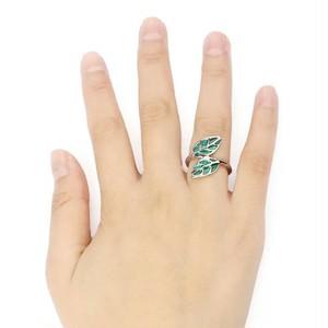訳あり品☆グリーンリーフのピンキーリング シルバー 指輪
