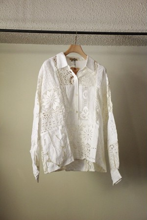 MALION VINTAGE マリオンビンテージ cutwork lace blouse A type